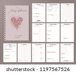 wedding planner printable... | Shutterstock .eps vector #1197567526