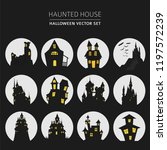 halloween holiday info graphic... | Shutterstock .eps vector #1197572239