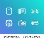 package icon set and photo with ...