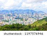 view of hong kong from lion rock | Shutterstock . vector #1197576946