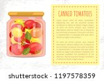canned tomatoes of different... | Shutterstock .eps vector #1197578359