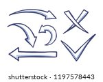 arrows and pointers  checkmark... | Shutterstock .eps vector #1197578443