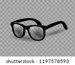 glasses with isolated background | Shutterstock .eps vector #1197578593