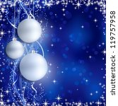 christmas background with... | Shutterstock .eps vector #119757958