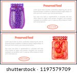 preserved food banners with... | Shutterstock .eps vector #1197579709