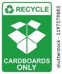 recycle vector sign  ... | Shutterstock .eps vector #1197579883