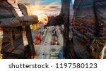 double exposure business man...   Shutterstock . vector #1197580123