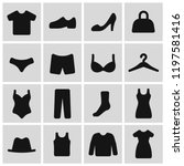clothes pictogram set  simple... | Shutterstock .eps vector #1197581416