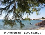adriatic sea coast. beach. | Shutterstock . vector #1197583573