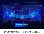 blockchain technology smart... | Shutterstock .eps vector #1197583873