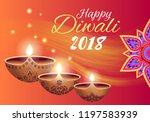 happy diwali 2018  promotional... | Shutterstock .eps vector #1197583939