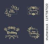 vintage luxury gold floral dark ... | Shutterstock .eps vector #1197587020