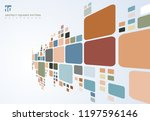 abstract colorful geometric... | Shutterstock .eps vector #1197596146