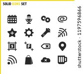 ui icons set with microphone ...