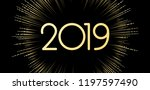 new year 2019 banner with... | Shutterstock .eps vector #1197597490