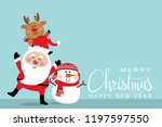 merry christmas and happy new... | Shutterstock .eps vector #1197597550