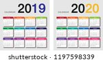 colorful year 2019 and year... | Shutterstock .eps vector #1197598339