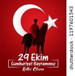 29 ekim cumhuriyet bayrami.... | Shutterstock .eps vector #1197601543