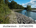 cobblestone path near a... | Shutterstock . vector #1197602590