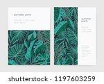 set of summer party invitation... | Shutterstock .eps vector #1197603259