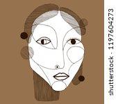 woman portrait in modern... | Shutterstock .eps vector #1197604273