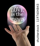 whatever your question love is... | Shutterstock . vector #1197604843