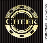 cheek golden emblem or badge | Shutterstock .eps vector #1197608929