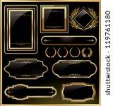 vintage vector black gold frame ... | Shutterstock .eps vector #119761180