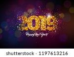 2019 happy new year... | Shutterstock .eps vector #1197613216