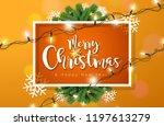 merry christmas illustration... | Shutterstock .eps vector #1197613279