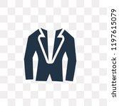 tuxedo vector icon isolated on...   Shutterstock .eps vector #1197615079