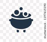 cauldron vector icon isolated... | Shutterstock .eps vector #1197615190