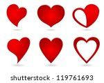 heart shape original design set | Shutterstock .eps vector #119761693