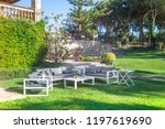 beautiful garden furniture | Shutterstock . vector #1197619690