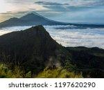 big mount agung in bali. mount...   Shutterstock . vector #1197620290