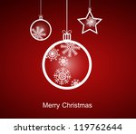 christmas ornaments made from... | Shutterstock .eps vector #119762644