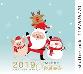merry christmas greeting card... | Shutterstock .eps vector #1197626770