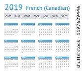 2019 french american calendar ... | Shutterstock .eps vector #1197629446