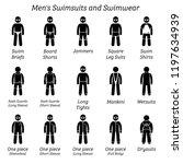 men swimsuits and swimwear.... | Shutterstock . vector #1197634939