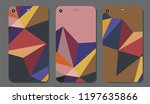 set fashionable abstract... | Shutterstock .eps vector #1197635866