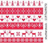 seamless winter pattern. | Shutterstock .eps vector #1197639070