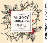 vector christmas card with... | Shutterstock .eps vector #1197641596
