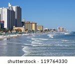 Daytona Beach Florida Boardwalk and shoreline