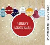 merry christmas christmas... | Shutterstock .eps vector #119764684
