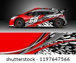 car wrap design vector. graphic ... | Shutterstock .eps vector #1197647566
