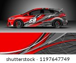 car wrap design vector. graphic ... | Shutterstock .eps vector #1197647749