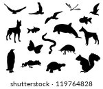 animal silhouettes | Shutterstock .eps vector #119764828