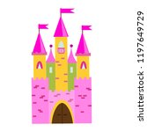 fairy tale castle with turrets. ... | Shutterstock .eps vector #1197649729