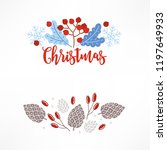 christmas compositions with... | Shutterstock .eps vector #1197649933