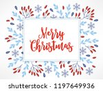 christmas greeting card with... | Shutterstock .eps vector #1197649936